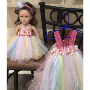 Tutu dress with headband and babydoll dress